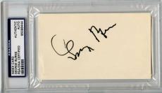 George Burns Signed 3X5 Index Card Autograph PSA/DNA Slabbed #65098444