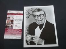 GEORGE BURNS SIGNED 5x7 BLACK & WHITE PHOTOGRAPH JSA COA