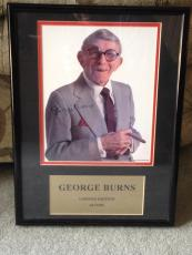 GEORGE BURNS Signed 8x10 Custom Famed Photo JSA F54448
