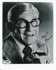 George Burns Signed 8x10 Photo Autograph Auto PSA/DNA X69781