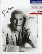 George Burns Signed 8x10 Photo PSA DNA #H33366 Autographed Gracie Allen