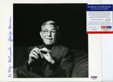 George Burns Signed 8x10 Photo PSA DNA #H33367 Autographed Inscribed