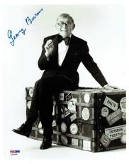 George Burns Signed Authentic Autographed 8x10 Photo PSA/DNA #X22969
