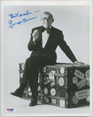 GEORGE BURNS SIGNED AUTOGRAPHED PSA DNA 8x10 PHOTO IN A TUX #I34041