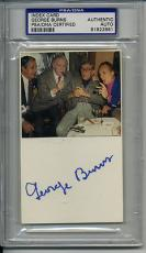 George Burns Signed Autographed Psa Dna Index Card