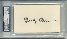 George Burns Signed Autographed Psa Dna Index Card