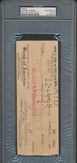George Burns Signed Check PSA/DNA Certified Authentic Auto Autograph *9978