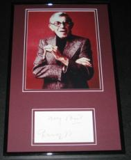 George Burns Signed Framed 11x17 Photo Display JSA