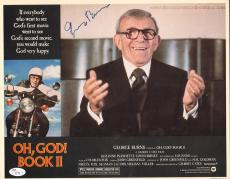 GEORGE BURNS signed Oh, GOD! Book II Original Lobby Card-JSA I61536