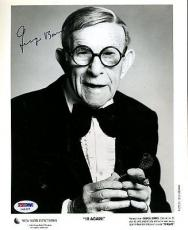 George Burns Signed Psa/dna Certified 8x10 Photo Authentic Autograph
