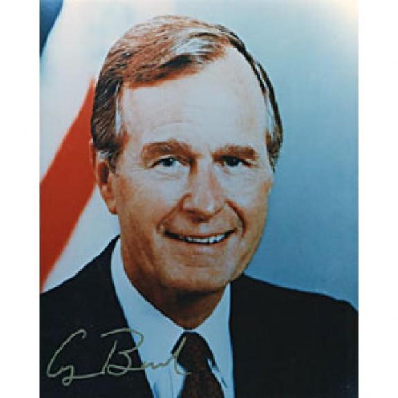 George Bush Autographed Celebrity 8x10 Photo
