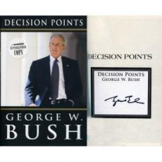 George Bush Decision Points Signed Book