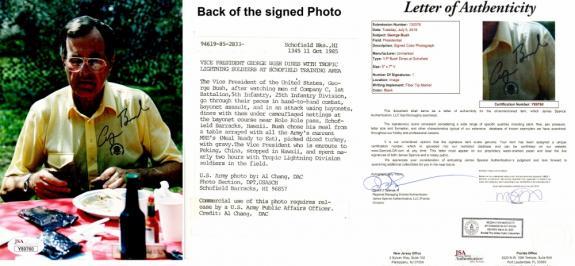 George Bush Sr - George H.W. Bush Signed - Autographed Original Vice President 5x7 inch Photo - 41st U.S. President - FULL JSA Letter of Authenticity (COA) - Deceased 2018