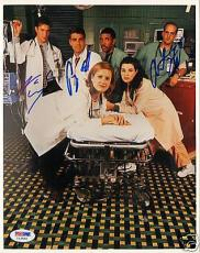 George Clooney +2 Signed ER Cast 8x10 Photo PSA/DNA COA