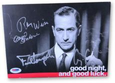 George Clooney +3 Signed Autographed Book Good Night and Good Luck PSA G15944