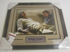 George Clooney Actor Signed Autographed 11x14 Photo Framed Matted Jsa Coa