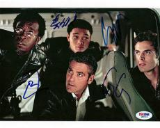 George Clooney Affleck Cheadle Autographed Signed 8x10 Photo PSA/DNA #Q89519