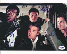 George Clooney, Affleck, Cheadle & Qin. Autographed Signed 8x10 Photo PSA Q89518
