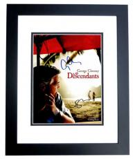 George Clooney and Shailene Woodley Signed - Autographed The Descendants 8x10 inch Photo BLACK CUSTOM FRAME - Guaranteed to pass PSA or JSA