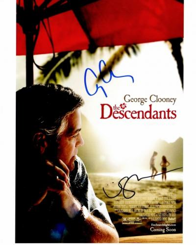 George Clooney and Shailene Woodley Signed - Autographed The Descendants 8x10 inch Photo - Guaranteed to pass PSA or JSA