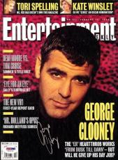 George Clooney Authentic Autographed Signed Magazine PSA/DNA Certified