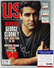 George Clooney Signed Autographed 1995 Us Magazine PSA/DNA #P43431