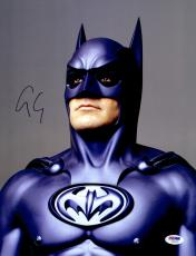 "George Clooney Autographed 11""x 14"" Batman Forever Looking Up  Photograph - PSA/DNA COA"