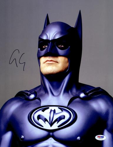 """George Clooney Autographed 11""""x 14"""" Batman Forever Looking Up  Photograph - PSA/DNA COA"""