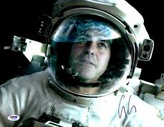 "George Clooney Autographed 11""x 14"" Gravity Astronaut Helmet Photograph - PSA/DNA COA"