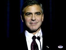 """George Clooney Autographed 11""""x 14"""" Ides of March Smiling Photograph - PSA/DNA COA"""