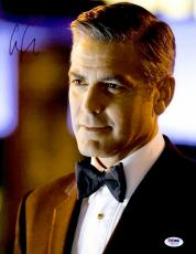 "George Clooney Autographed 11""x 14"" Oceans 13 Wearing Bow Tie Photograph - PSA/DNA COA"