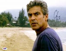 """George Clooney Autographed 11""""x 14"""" The Descendants Standing On The Beach Photograph - PSA/DNA COA"""