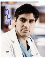 """George Clooney Autographed 8""""x 10"""" ER Wearing Doctor's Coat Photograph With Vintage Full Name Autograph - PSA/DNA COA"""
