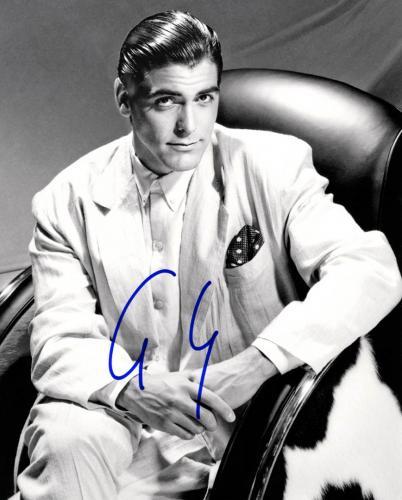 George Clooney Autographed 8x10 B/W Photo UACC RD AFTAL COA