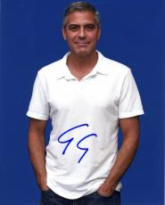 George Clooney Autographed 8x10 Polo Photo UACC RD AFTAL COA