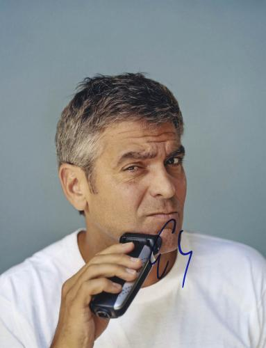George Clooney Autographed Clean Shave 11x14 Photo PSA #Y67716 UACC RD AFTAL