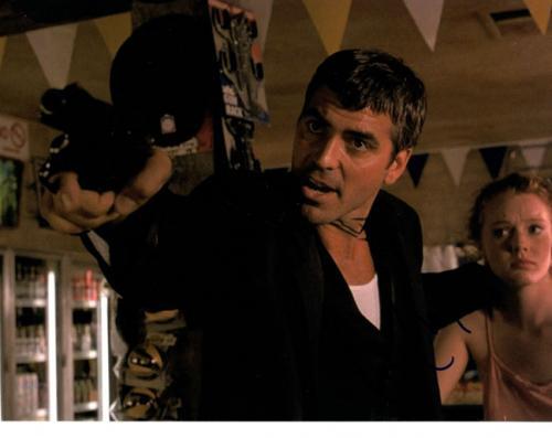 George Clooney Autographed Dusk Till Dawn Signed 8x10 Photo AFTAL