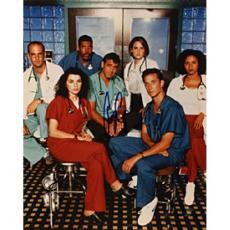 George Clooney Autographed ER Cast Celebrity 8x10 Photo