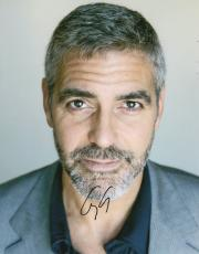 George Clooney Autographed Handsome Autographed 11x14 Photo PSA