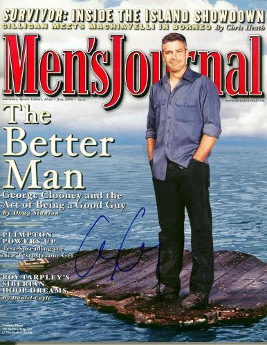 George Clooney autographed Magazine Mens Journal (NG)