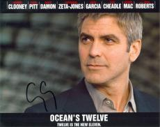 George Clooney Autographed OCEANS 12 8x10 Photo