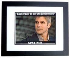 George Clooney Autographed OCEANS 12 8x10 Photo BLACK CUSTOM FRAME