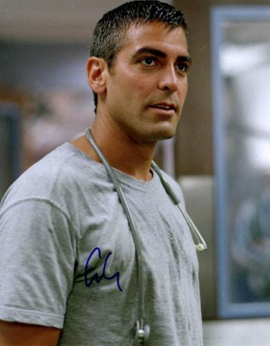 George Clooney Autographed Signed 11x14 ER Poster Photo UACC RD AFTAL COA