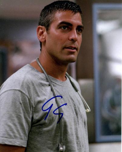 George Clooney Autographed Signed 8x10 ER Photo UACC RD AFTAL COA