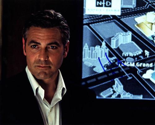 George Clooney Autographed Signed 8x10 Oceans Photo UACC RD AFTAL COA