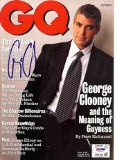 George Clooney Autographed Signed Magazine PSA/DNA #T19737