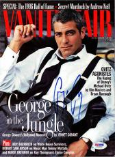 George Clooney Autographed Signed Vanity Fair Magazine PSA/DNA #W66889