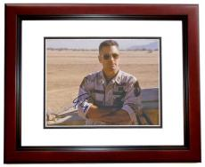George Clooney Autographed THREE KINGS 8x10 Photo MAHOGANY CUSTOM FRAME