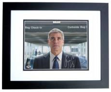 George Clooney Autographed Up in the Air 8x10 Photo BLACK CUSTOM FRAME