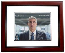 George Clooney Autographed Up in the Air 8x10 Photo MAHOGANY CUSTOM FRAME